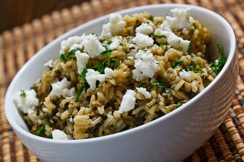 GREEK RICE AND FETACHEESE