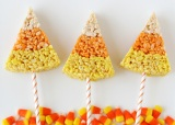 CANDY CORN KRISPIE TREATS – HALLOWEEN TREATS