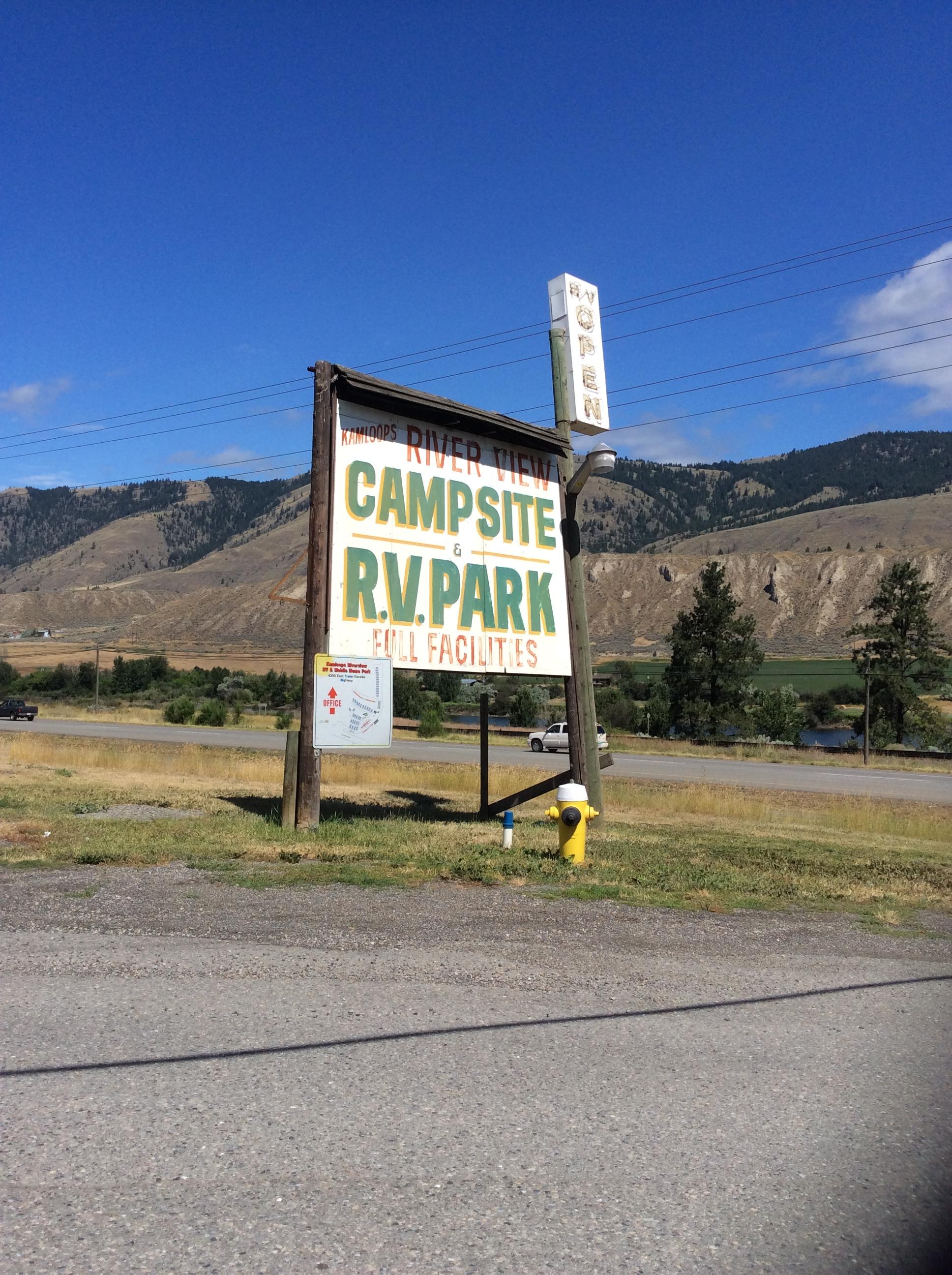 campsite in kamloops