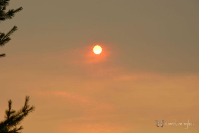 the fired sun